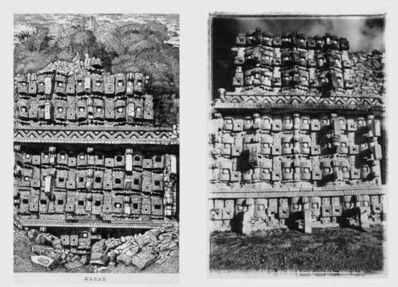 Leandro Katz, 'Kabah, after Catherwood [Temple of the Masks, partial view], (Kabah, a la manera de Catherwood) [Templo de las Máscaras, vista parcial] ', 1985