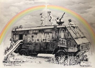 Banksy, 'Hand signed Riot Van', 2015