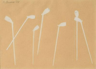 Antonio Bueno, 'Composizione con pipe', 1958