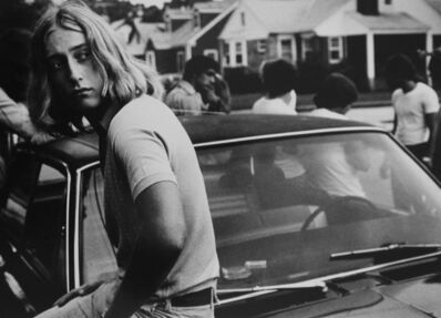 Joseph Szabo, 'Tom on his car, 1977', 1977
