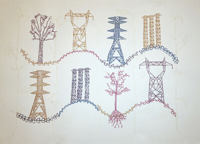Susan Graham, 'Trees with Towers', 2017