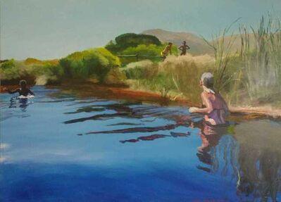 Clare Menck, 'Unexpected lagoon encounter', 2020
