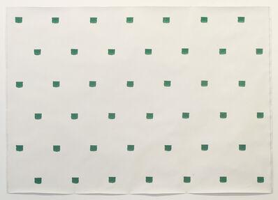 Niele Toroni, 'Empreintes de pinceau N°50 à intervalles de 30 cm: Politoile', 1986