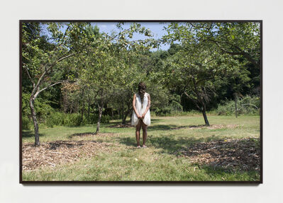 Allison Janae Hamilton, 'Dollbaby standing in the orchard at midday.', 2015