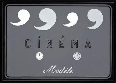 """Marcel Broodthaers, '""""Cinéma Modèle""""', 1970"""