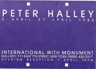 Peter Halley, 'International With Monument, Peter Halley, Card', 1986