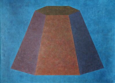 Sol LeWitt, 'Wall Drawing #506 (flat topped pyramid with color ink washes superimposed)'