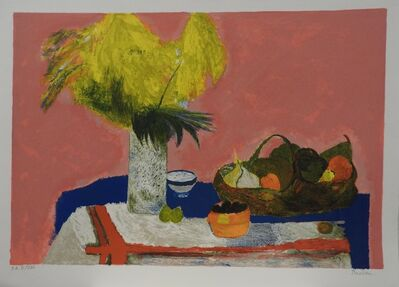 Guy Bardone, 'Nature morte au bouquet jaune', 1986