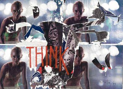 Mimmo Rotella, 'Think', 1999
