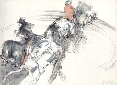 Claude Weisbuch, 'Deux Cavaliers'