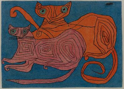 Jan Schoonhoven, 'Twee katten', 1951
