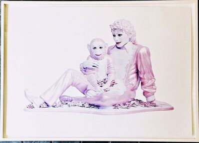 Jeff Koons, 'Portrait of Michael Jackson and Bubbles (Pink)', 1995