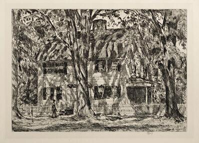 Childe Hassam, 'The Lion Gardiner House, East Hampton', 1920