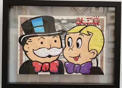 Alec Monopoly, 'Monopoly & Richie faces on share', 2019