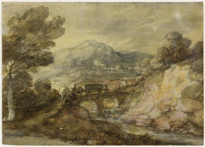Thomas Gainsborough, 'Landscape with Cattle Crossing a Bridge', ca. 1785