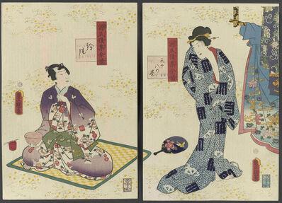 Utagawa Toyokuni III (Utagawa Kunisada), 'Genji goshu- yojo (Lasting Impressions of a Late Genji Collection)', ca. 1857-61