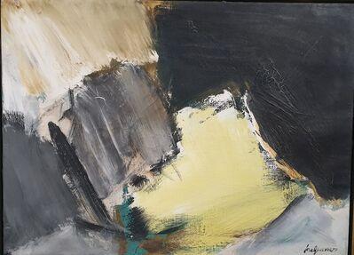 José Guerrero (b. 1914), 'Black-Yellow', 1962
