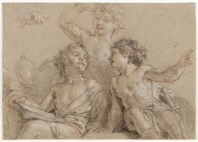 Charles de La Fosse, 'Trois jeunes génies (Three Young Geniuses)', 17th century