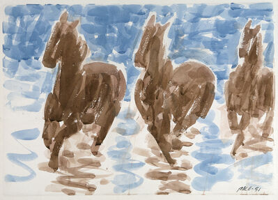 Stephen Pace, 'Three Brown Horses', 1991