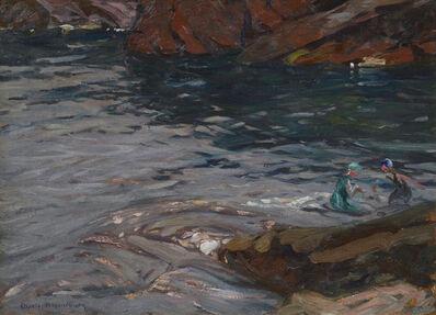 Charles Herbert Woodbury, 'Bathing Pool, Green Girl, Narrow Cove, Ogunquit'