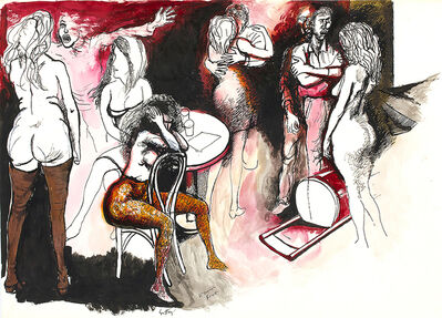Renato Guttuso, 'Dance and brawl', 1962
