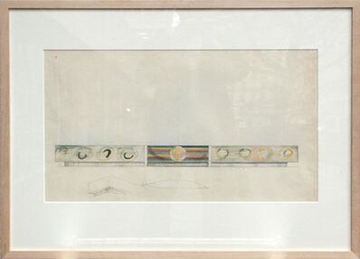 Robert Delaunay, 'Etude par la façade latérale du Pavillon des Chemins de Fer de l'Exposition Internationale de Paris 1937', 1936-1937