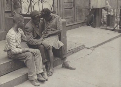 Helen Levitt, 'NYC (Couple on stoop)', ca. 1940