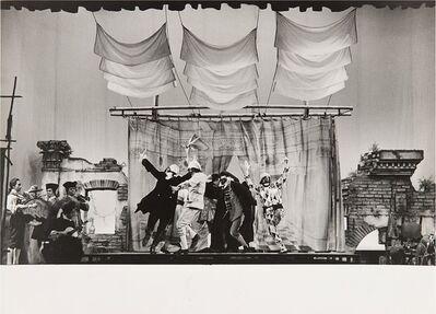 """Ugo Mulas, 'Arlecchino servitore di due padroni, """"Piccolo Teatro""""', 1964"""