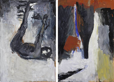"Georg Baselitz, '""Akt und Flasche (Nude and Bottle)""', 1977"