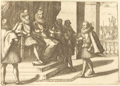 Jacques Callot, 'King and Queen in Consultation about the Turks', 1612