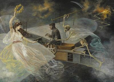 Johann Rudolf Weiss, 'Des Aviatikers letzter Augenblick', 1910