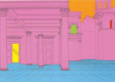 Michael Craig-Martin, 'Deconstructing Piero (pink) 1', 2004