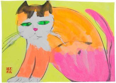 Walasse Ting 丁雄泉, 'Pee-KA-Boo Cat', 1990-2000