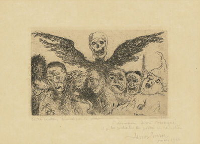 James Ensor, 'Péchés Capitaux dominés par la Mort, from: Les Sept Péchés Capitaux (The Deadly Sins dominated by Death, from: The Seven Deadly Sins)', 1904