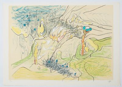 Roberto Matta, 'Five lithographies - plate 2', 1977