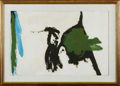 Robert Motherwell, 'Two Figures with Green Stripe', 1960-64