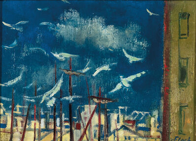 Josef Floch, 'Masts and Gulls'