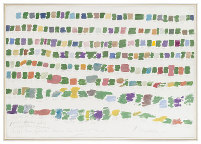 Osvaldo Romberg, '1-242 Random colors interpolated by green', ca. 1980