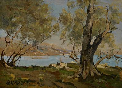Henri-Joseph Harpignies, 'Paysage au bord de la mer', ca. 1874