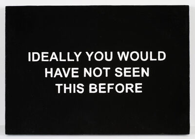 Laure Prouvost, 'IDEALLY YOU WOULD HAVE NOT SEEN THIS BEFORE ', 2016