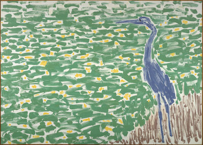 Stephen Pace, 'Blue Heron, Yellow Lillies (91-11)', 1991