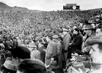 Peter Bush, 'South Africa vs Wellington, Athletic Park, Wellington, New Zealand', 1956