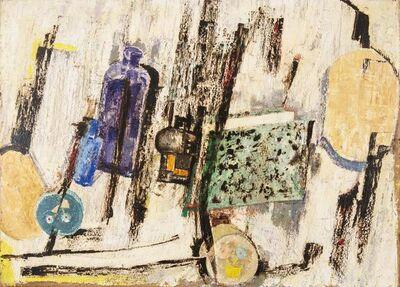 Fausto Pirandello, 'Oggetti Scompagnati', 1960