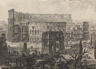 Giovanni Battista Piranesi, 'The Arch of Constantine and the Colosseum Vedute dell' Arco di Costantino, e dell' Anfiteatro Flavio il Colosseo', 1760