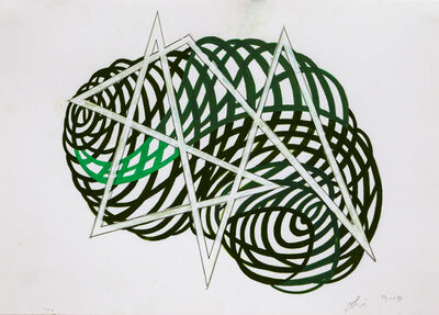 Linda Fleming, 'Gouache Wall Drawing (green + angle)', 2017