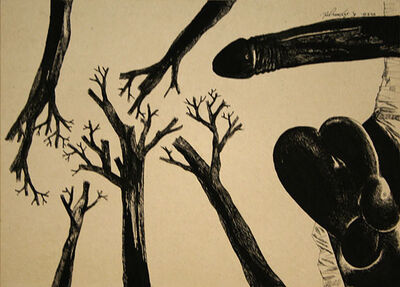 Laxma Goud, 'Untitled (Penis and Tree Roots)', 1975