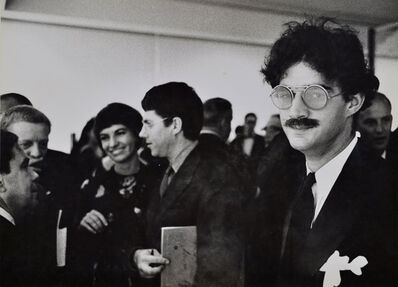 Julian Wasser, 'Larry Bell at the Opening Reception (Ed Moses and Robert Irwin in background), Duchamp Retrospective, Pasadena Art Museum', 1963
