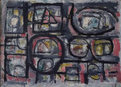 Jan Schoonhoven, 'Le Visage Perdu', 1956