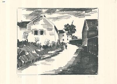 Maurice de Vlaminck, 'La route de Nesles', 1921