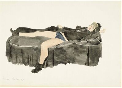 Patrick Procktor, 'Young Man Reclining on a Bed', 1968